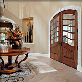 curved top wood doors - orange county entry doors