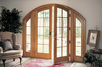 curved top arch top custom wood doors - Marvin french doors