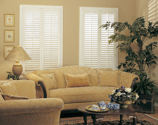 white plantation window shutters wood