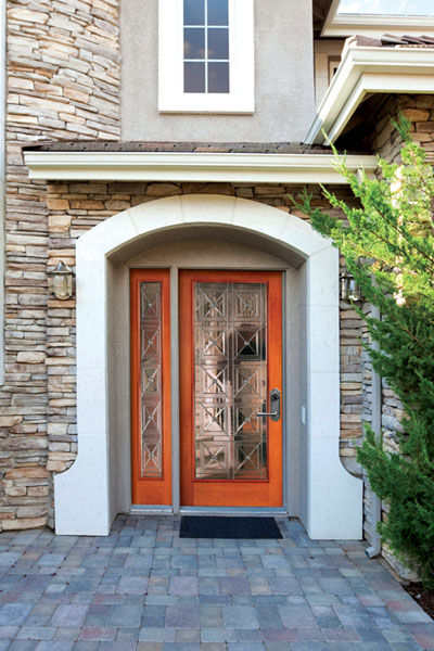 simpson glass entry door - 6468