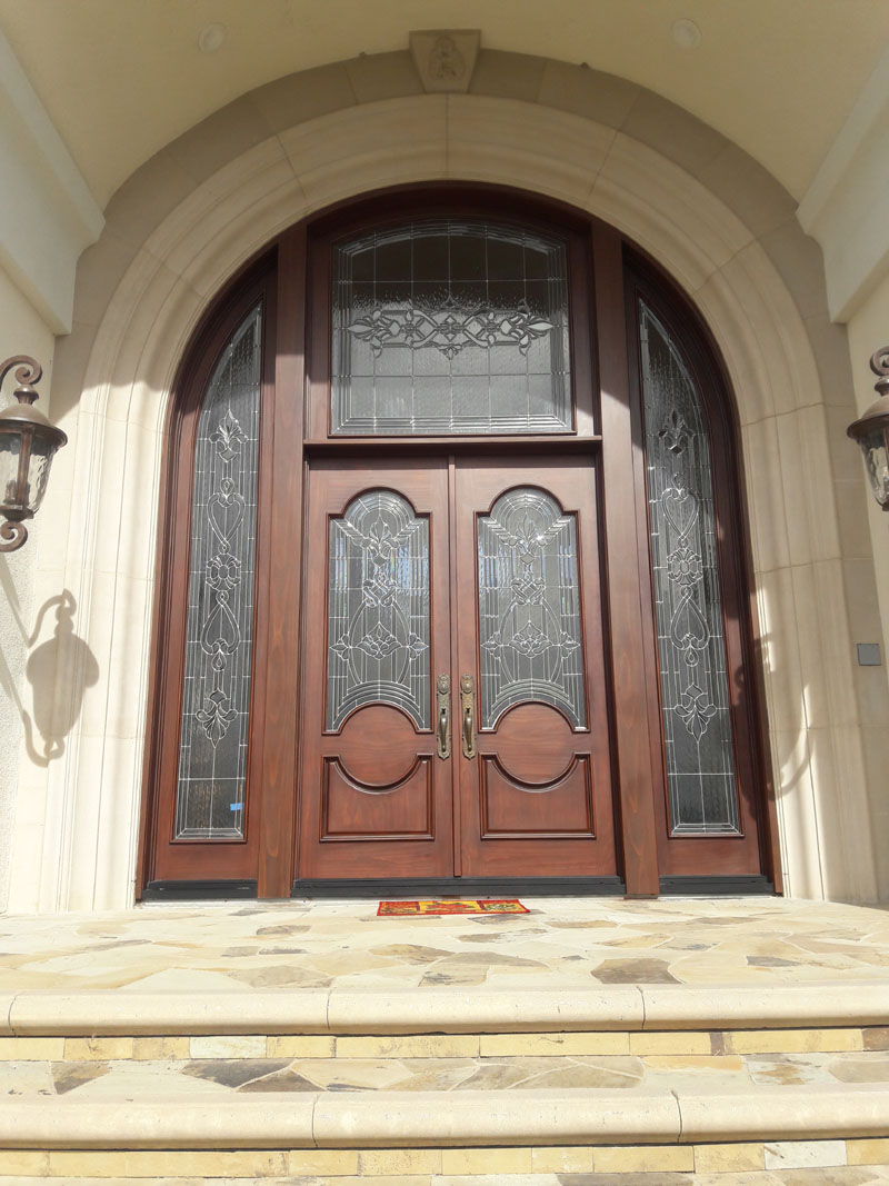 Custom Entry Door System we sold and installed in Coto de Caza